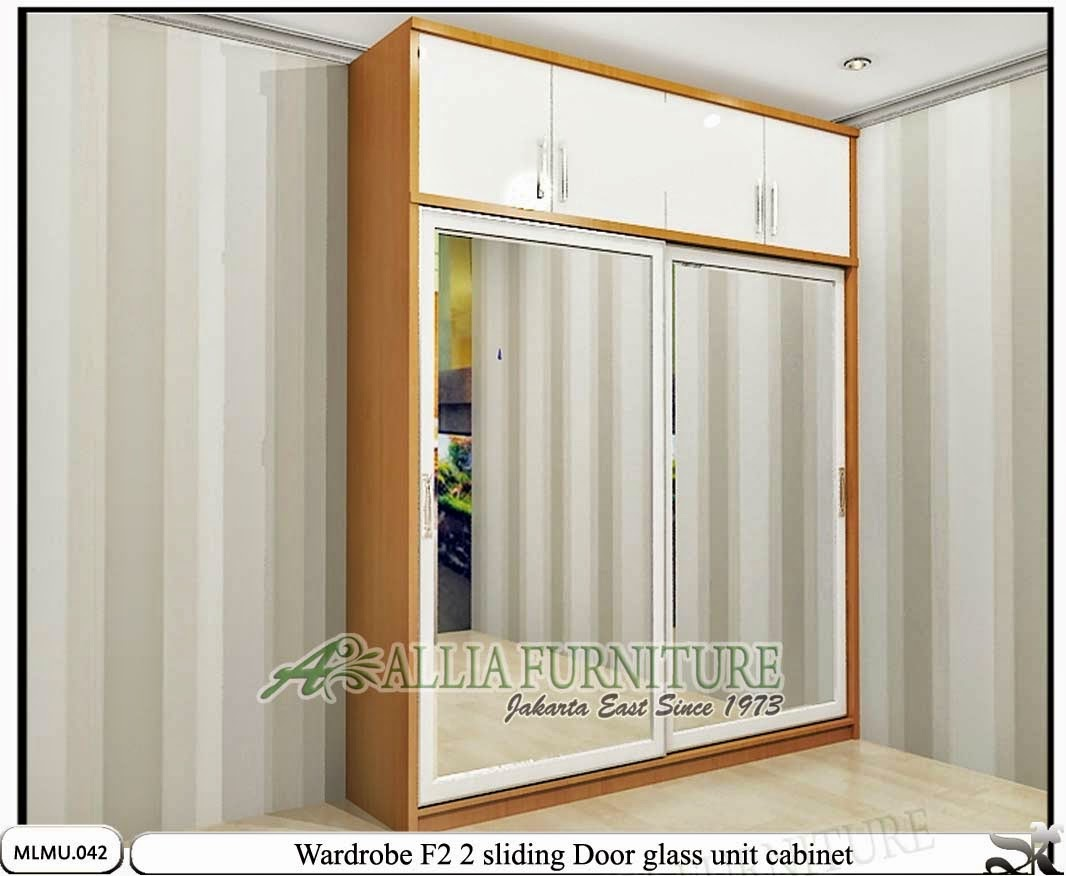 Lemari pakaian minimalis sliding unit F2
