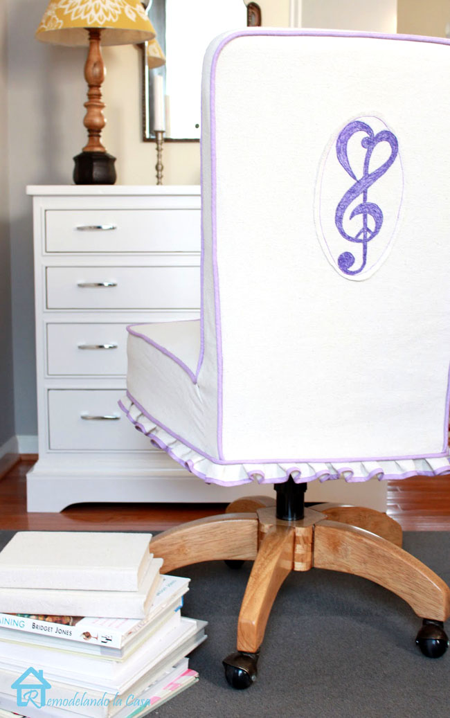 how to sew a chair slipcover