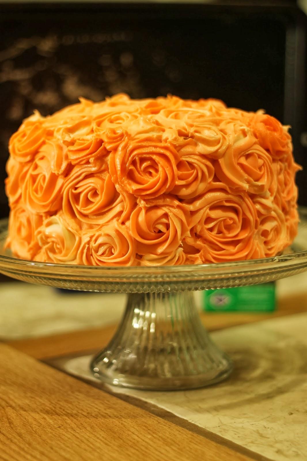 LaLa Cake Orange Rose Cake!