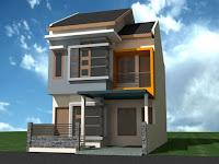 Teras Rumah 2 Lantai Minimalis Modern