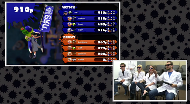 Squid Research Lab Splatoon Global Testfire Inkling white lab coats Nintendo Treehouse