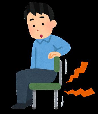 きしむ椅子のイラスト