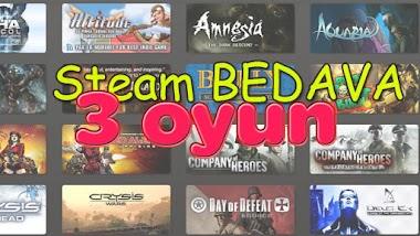 Steam Bedava 3 oyun (steam key olarak)