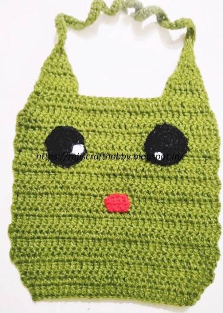 Amys Crochet Creative Creations Crochet Frog Baby Bib