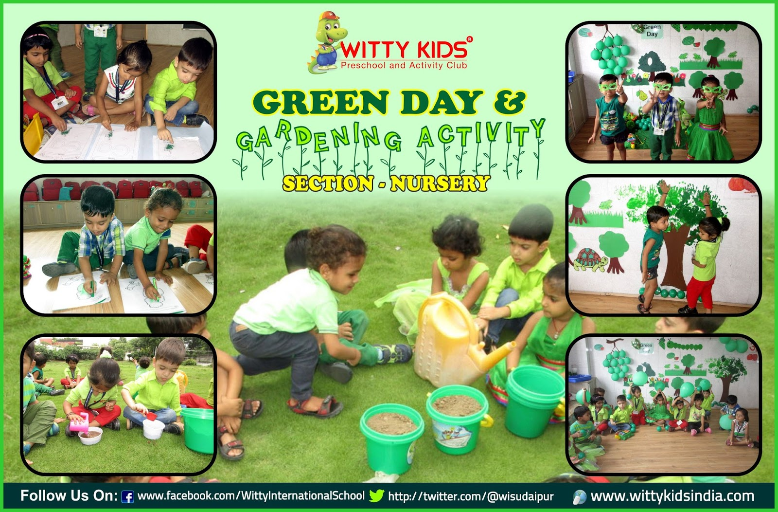 On The Top Of The World Green Color Day And Gardening Activity By Nursery At Wis Udaipur
