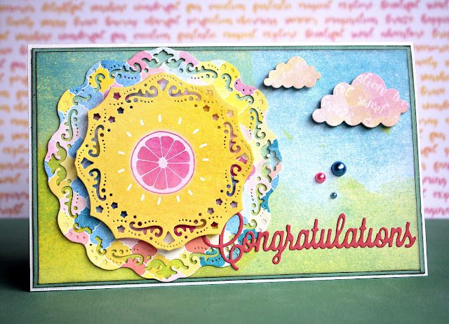 Summer Card by Ulrika Wandler using BoBunny Summer Mood Collection