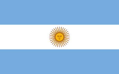 Logo Gambar Bendera Negara Argentina PNG JPG ukuran 400 px