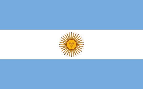 Logo Gambar Bendera Negara Argentina PNG JPG ukuran 600 px