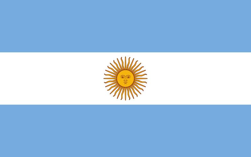 Logo Gambar Bendera Negara Argentina PNG JPG ukuran 800 px