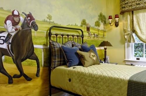 dormitorio tema caballos