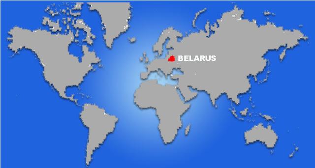 Gambar Peta letak negara Belarus