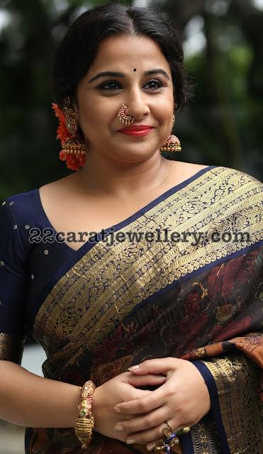 Vidya Balan in Temple Jewelry
