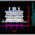 مخطط منزل خشبي بواجهة جميلة اتوكاد dwg