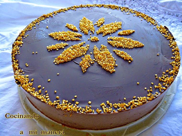 tarta mousse yogur chocolate