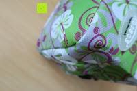Ecke: Aosbos Wasserdichte Lunch Tasche Isolierte Thermo Picknicktasche für Lebensmitteltransport(Grün Blumen)