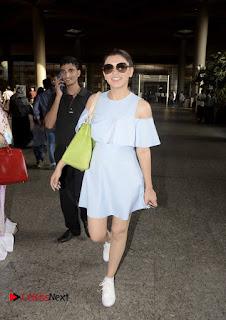 Actress Hansika Motwani Pictures at Mumbai Domestic Airport 0004