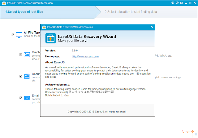 EaseUS Data Recovery Wizard 2016