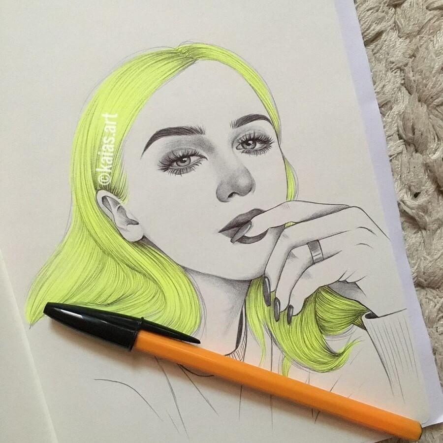 09-Kaia-Ballpoint-Pen-Color-Portraits-www-designstack-co