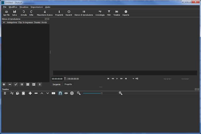 ShotCut - Programma open source di video editing