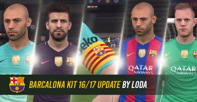 PES 2017 Barcelona Kits Season 2016-2017 Update