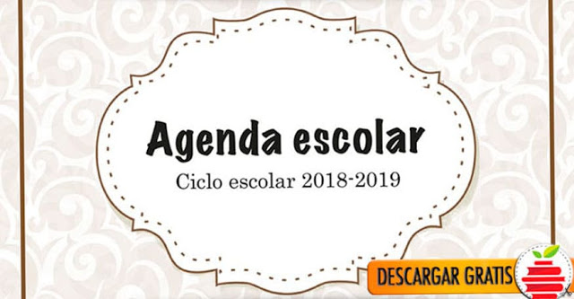 Agenda escolar en PDF para descargar gratis 2018-2019