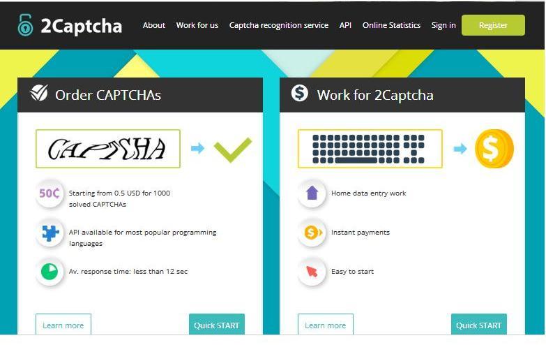 2Captcha Online data entry job - Worlds Of Money