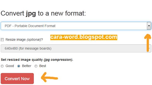 Cara Convert JPG Ke PDF Online