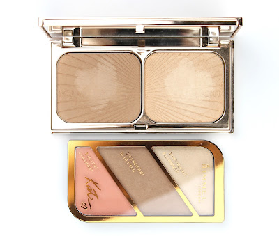 Rimmel Kate Sculpting Palette 002 Coral Glow Bronzer Highlighter Blush Charlotte Tilbury Filmstar Bronze and Glow dupe