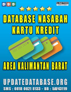 Jual Database Nasabah Kartu Kredit Kalimantan Barat