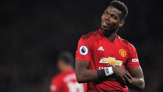 Paul Pogba Celebrates Manchester United Goal