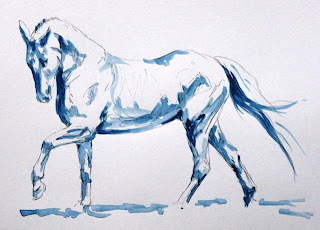 acrylic painting of horse, equestrian art scotland