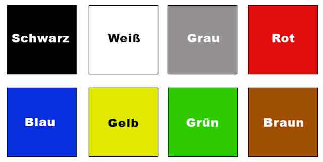Немецкий язык цвета