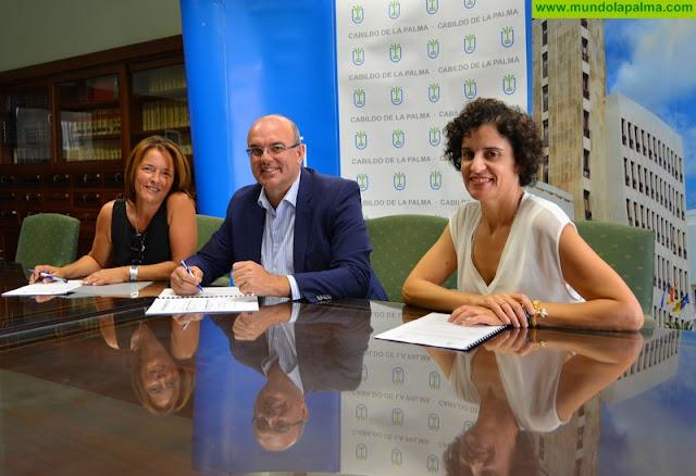 El Cabildo apoya a Niños Especiales de La Palma para la prestación del servicio de estimulación temprana