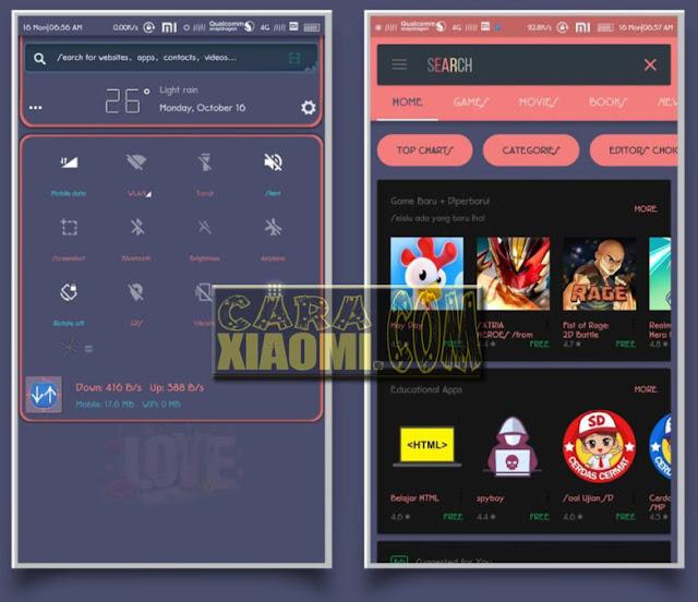 Download Tema Lope Lope Untuk Xiaomi MIUI Tampilan Tembus ke Semua Aplikasi lain