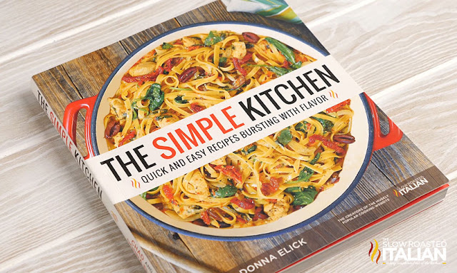 "cookbook cover for ""The Simple Kitchen,"" by Donna Elick"