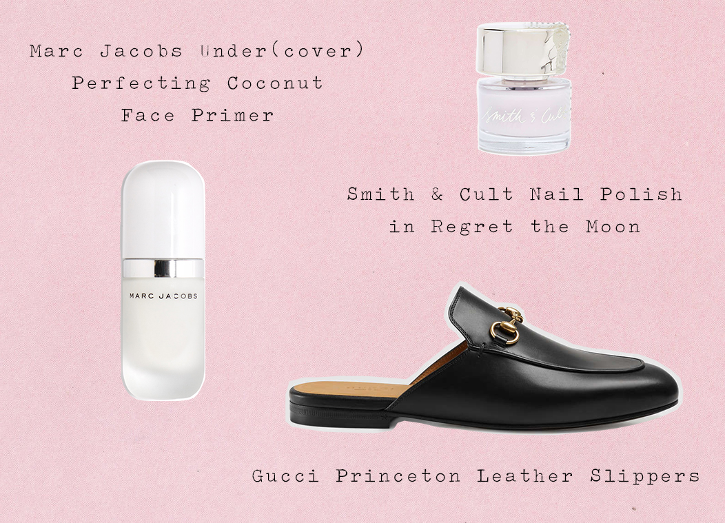 Wish List || Smith & Cult Nail Polish in Regret the Moon || Marc Jacobs Under(cover) Perfecting Coconut Face Primer || Gucci Princeton Mules || accessories, shoes, style, makeup, beauty || Allegory of Vanity