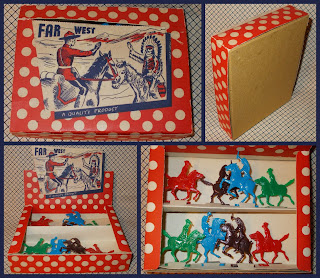 Boxed Flats, Boxed Toy, Boxed Wild West, Cowboy Flats, Cowboys and Indians, Flat Cowboys and Indians, Flat Figures, Flats; Indian Flats, Polystyrene Figures, Polystyrene Toys, Small Scale World, smallscaleworld.blogspot.com, Unknown Flats, Unknown Plastic Figures, Unknown Toy Figures, Unknown Wild West, Wild West, Wild West Flats,