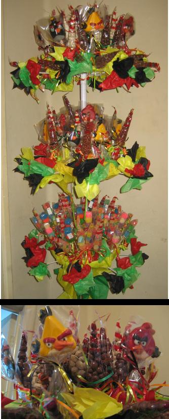 Pinxel, decoración souvenirs: Fiesta Angry Birds