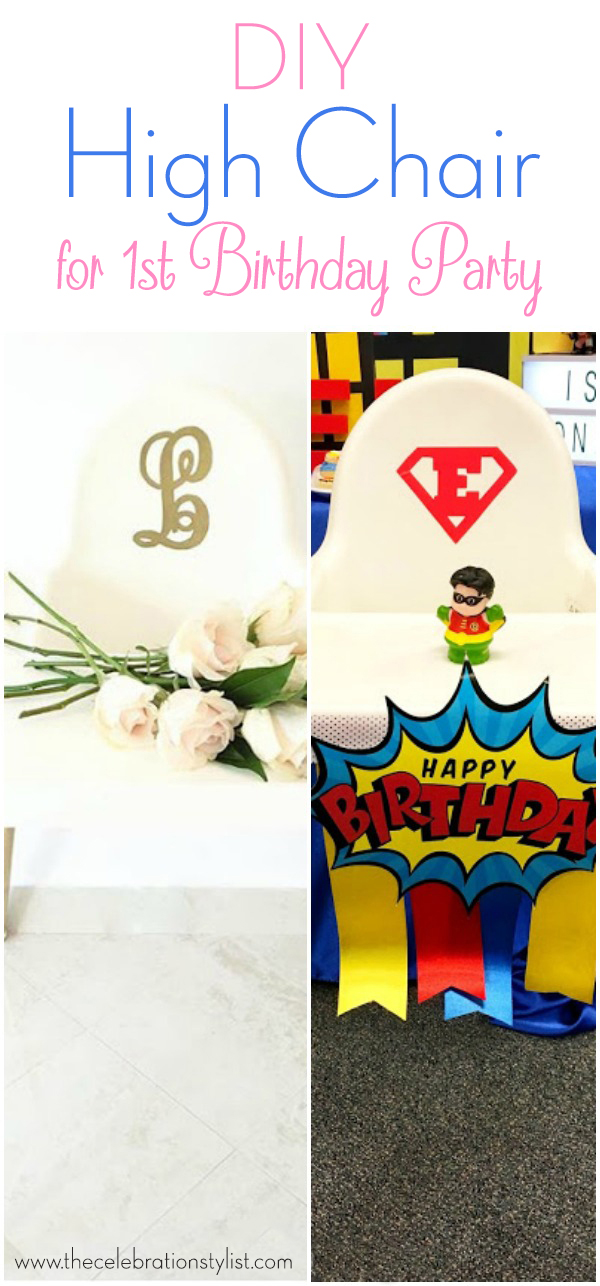 How To Make a Custom First Birthday High Chair Banner by popular Florida party blogger The Celebration Stylist