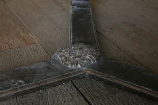 stretcher detail, vintage table via Eloquence Inc. as seen on l&l