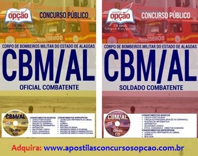Apostila Corpo de Bombeiros AL - CBM AL 2017.
