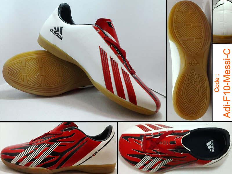 e8c3bb22fc MIFTAH STORE  Sepatu Futsal Adidas F10 Messi Merah Putih Hitam Sol Ori