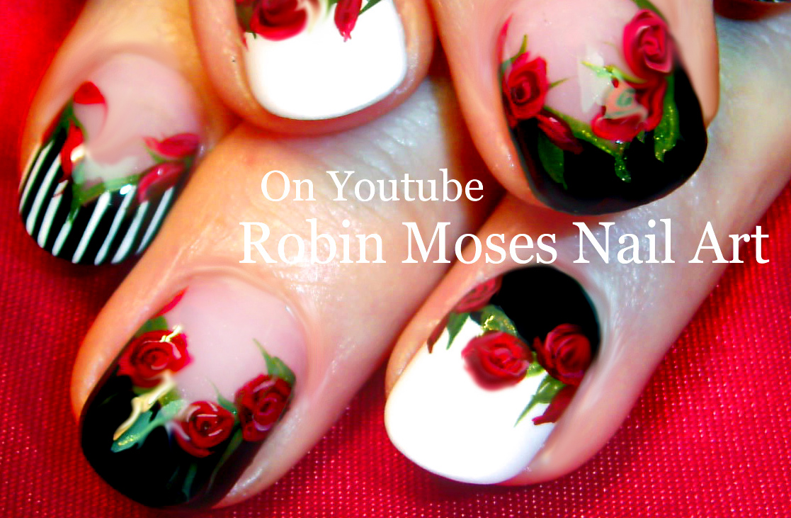 Robin moses nail art diy easy red rose nails romantic roses diy easy red rose nails romantic roses nail art design tutorial prinsesfo Gallery