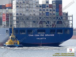 SST Aruá e CMA CGM Rio Grande