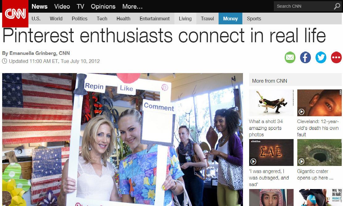 My Perfect Pinterest Party featured on CNN Living!