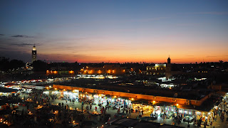 Jemaa El FNa sunset