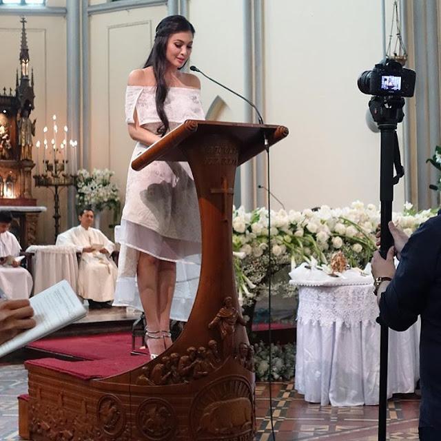 Jadi Lektris di Pernikahan Glenn-Chelsea, Sandra Dewi Merinding Lihat Kesakralan Sakramen Pernikahan Katolik