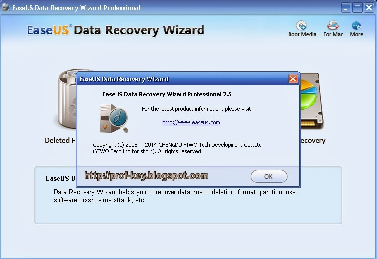 EaseUS Data Recovery Wizard Pro 8 With Serial Number