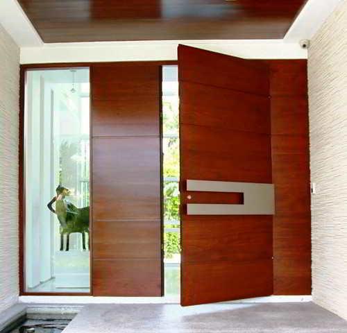 40 model desain pintu utama rumah minimalis  contoh gambar
