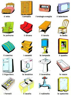 Bakker idiomas objetos escolares em italiano for Mobilia dizionario